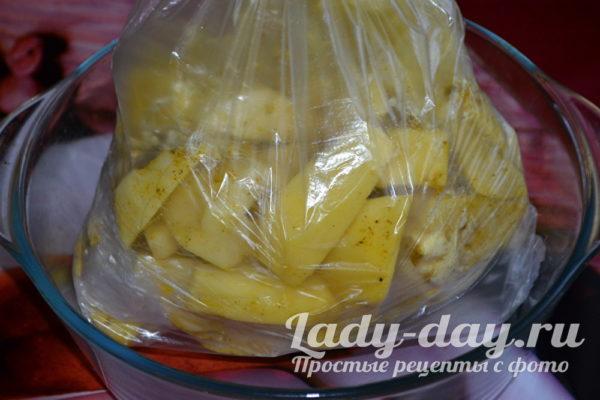 пакет с картошкой