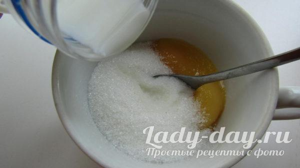сахар и желтки