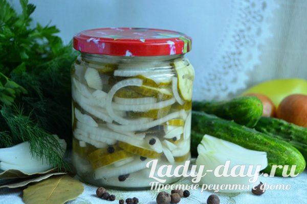 салат нежинский из огурцов на зиму пошаговый рецепт с фото