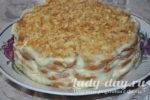 Торт «Наполеон» без выпечки из печенья ушки