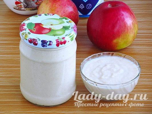 Яблочное пюре со сгущенкой на зиму рецепт с фото