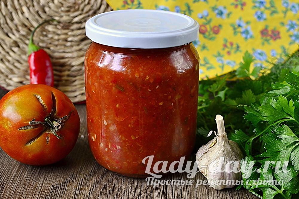 Аджика из помидор и чеснока