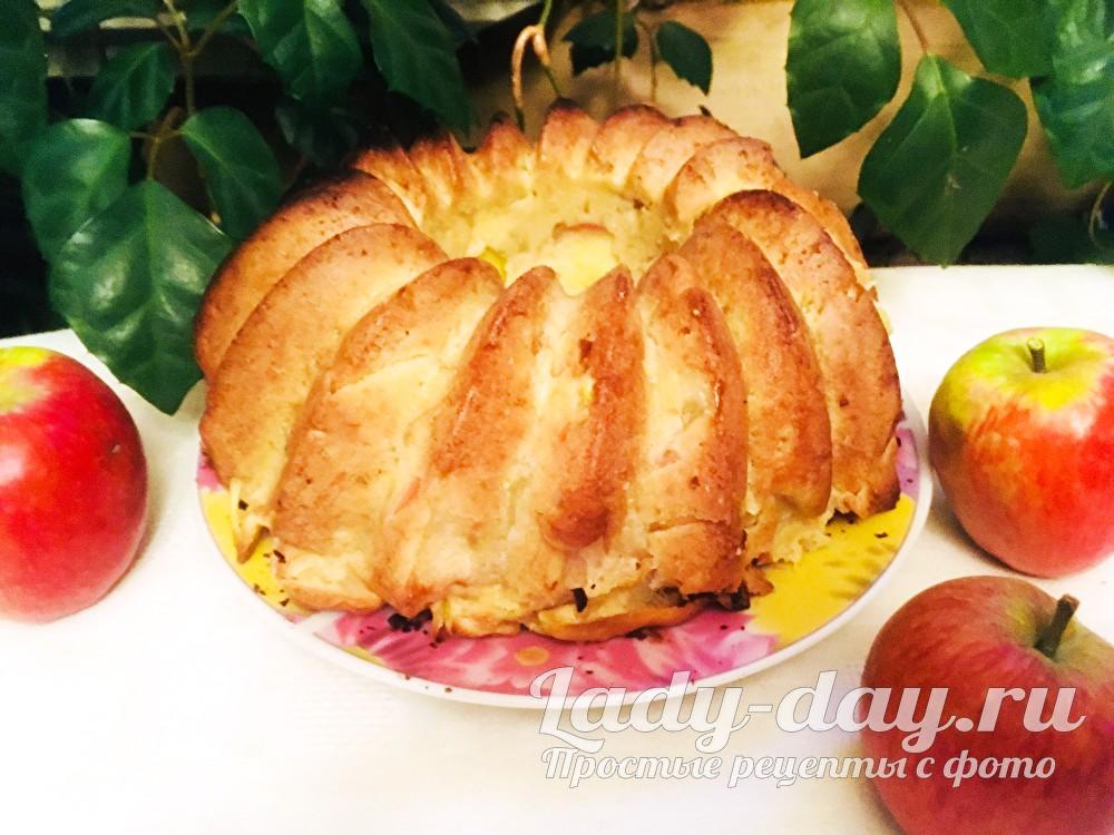 ленивая шарлотка с яблоками рецепт с фото пошагово в духовке
