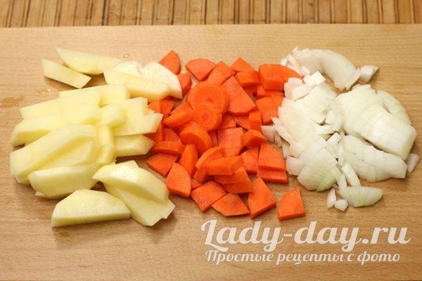 резаные овощи
