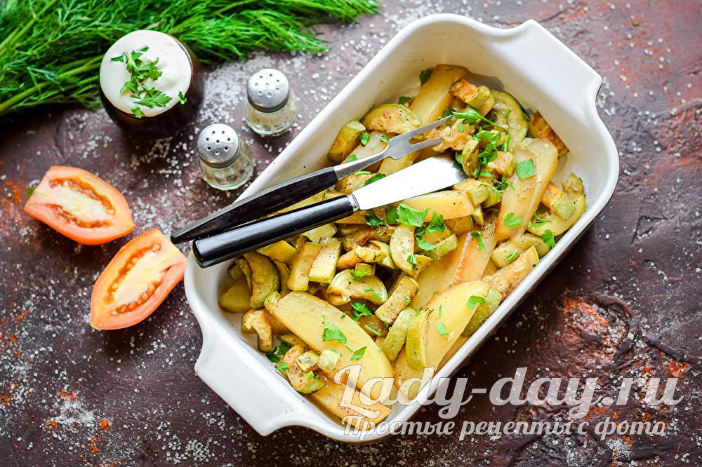 Кабачки с картофелем