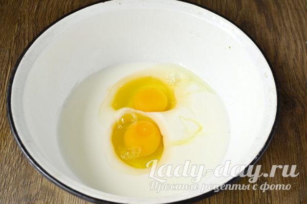 яйца с кефиром