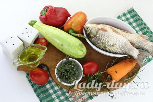 карась и овощи