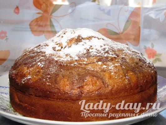 мраморный кекс с духовки