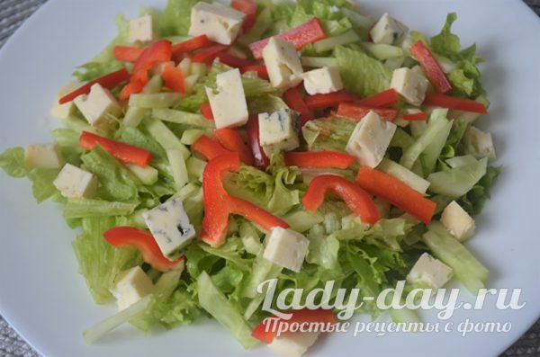 сыр и овощи