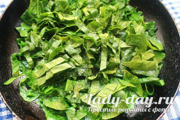 нарезать шпинат