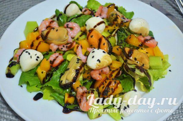 салат с морепродуктами рецепт с фото