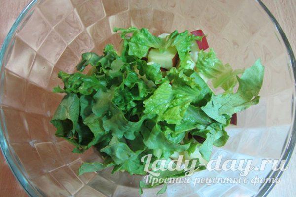 яблоки и салат