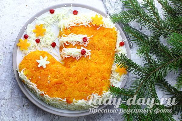 Салат «Новогодний сапожок» рецепт с фото