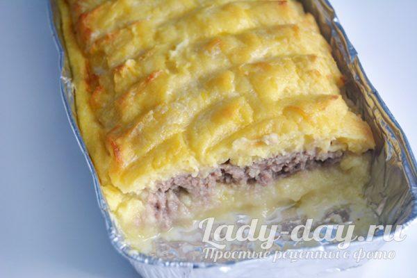 картофельная запеканка с фаршем в духовке рецепт с фото пошагово