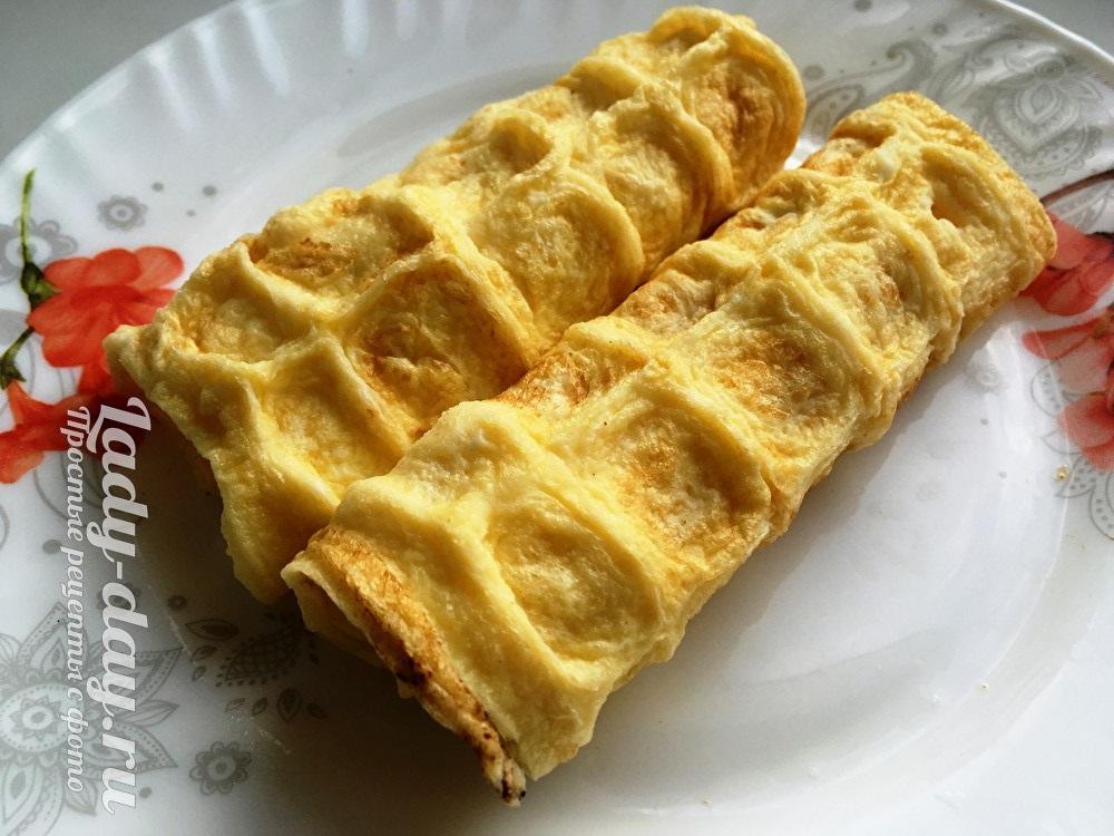омлет с сыром в электровафельнице