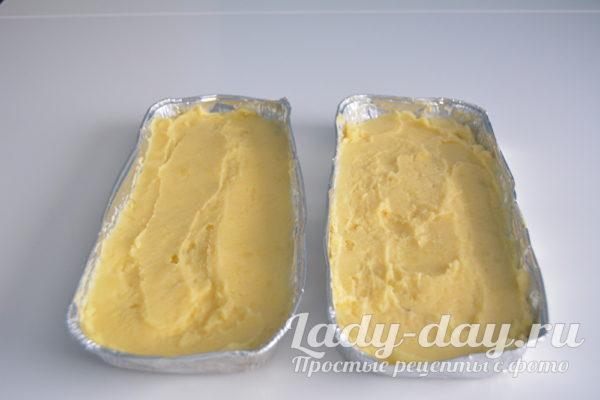 картофельное пюре в форме