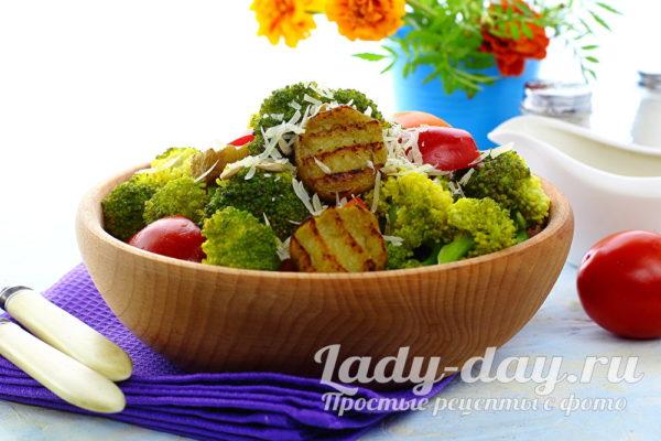 Свежий салат с брокколи