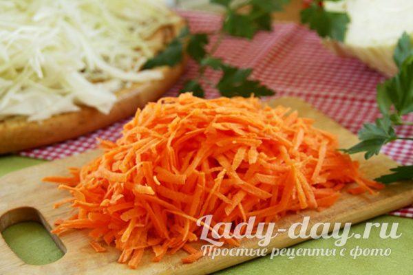 пошинковать морковь