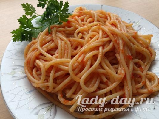 Вкусные макароны в томатном соусе
