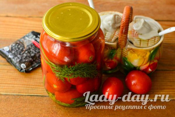 томаты с ботвой