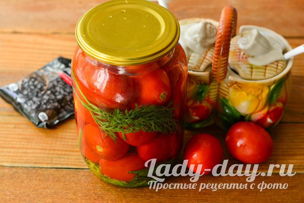 помидоры с ботвой