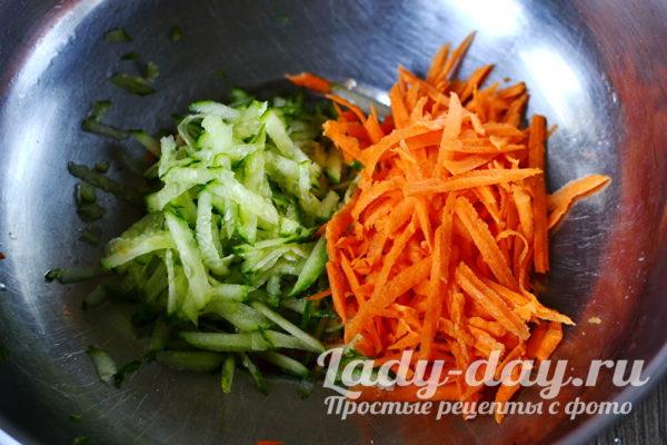 морковь и огурец