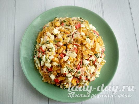 сервировать салат