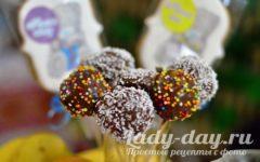 Кейк-попсы рецепт с фото