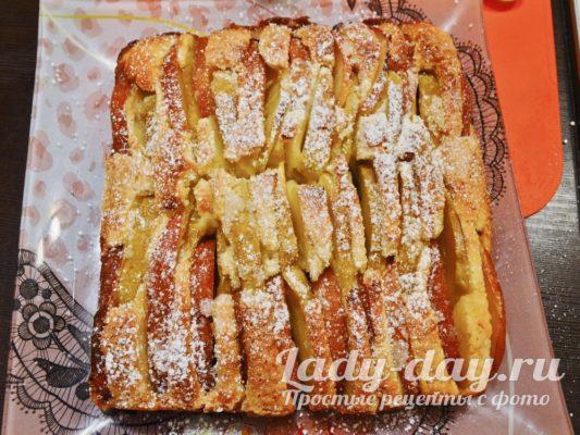 яблочный пирог простой рецепт в домашних условиях