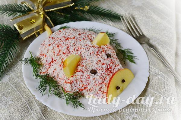 Салат Поросенок рецепт с фото