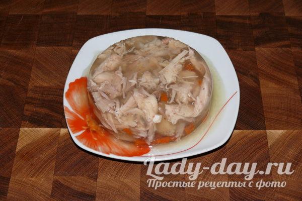 холодец из курицы без желатина рецепт с фото