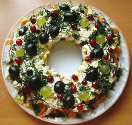 салат кольцо