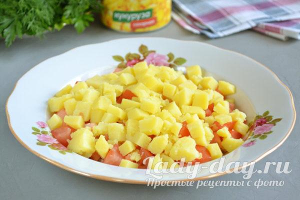 картофельные кубики