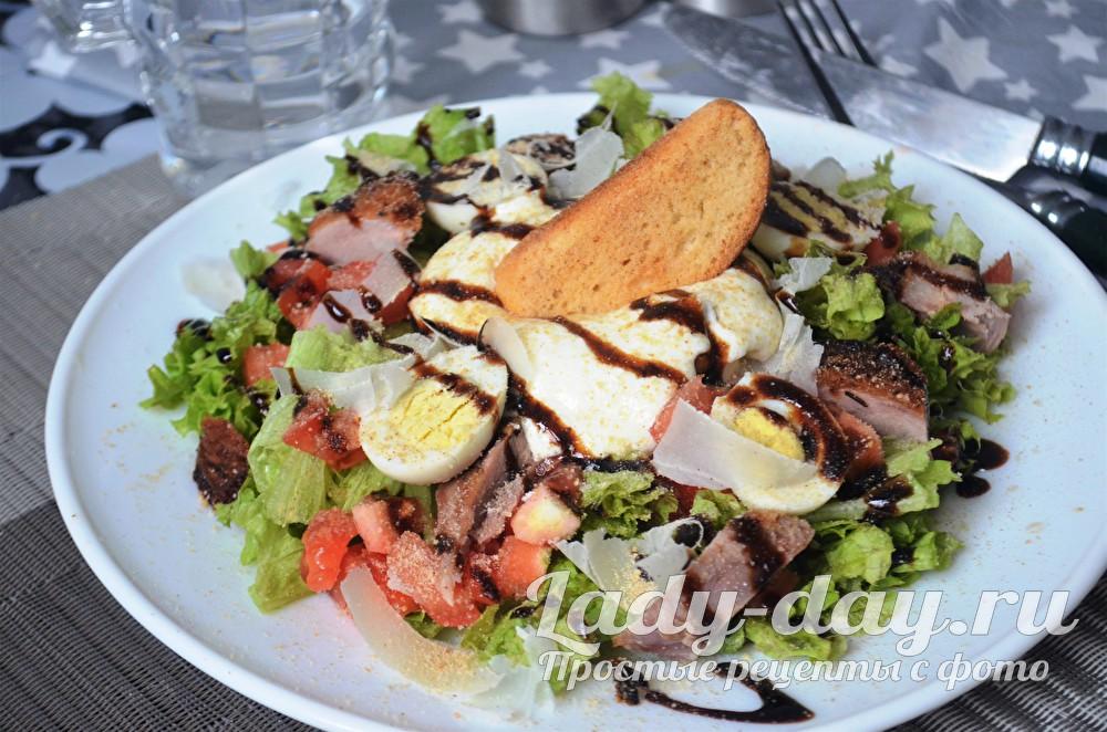 Салат а-ля Цезарь, рецепт самый вкусный
