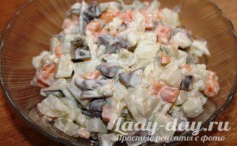 салат с желудочками