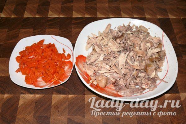 куриное мясо иморковь