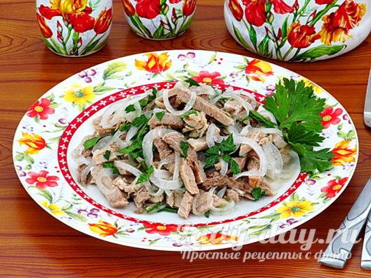 салат из свинины рецепт с фото
