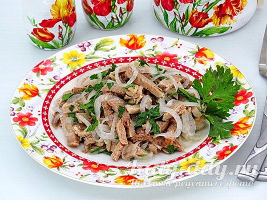 салат из свинины рецепт с фото очень вкусный