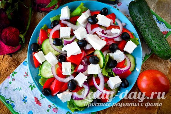Классический рецепт Греческого салата, с фото пошагово