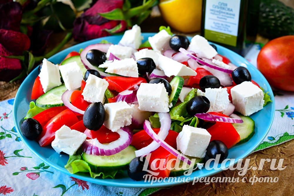 классический рецепт греческого салата с фото пошагово