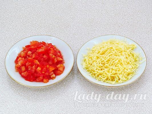 помидор и сыр