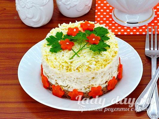 готовый салат с печенью