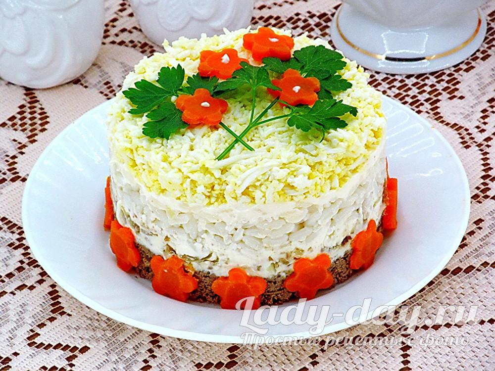 Салат с куриной печенью, рецепт с фото очень вкусный