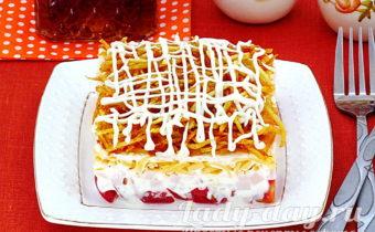 Салат блондинка: рецепт с фото с жареной картошкой