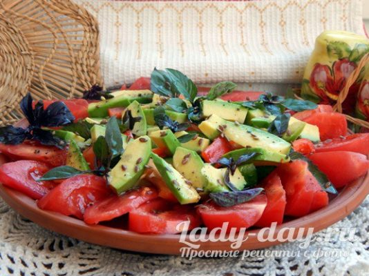 Салат с авокадо рецепт с фото очень вкусный