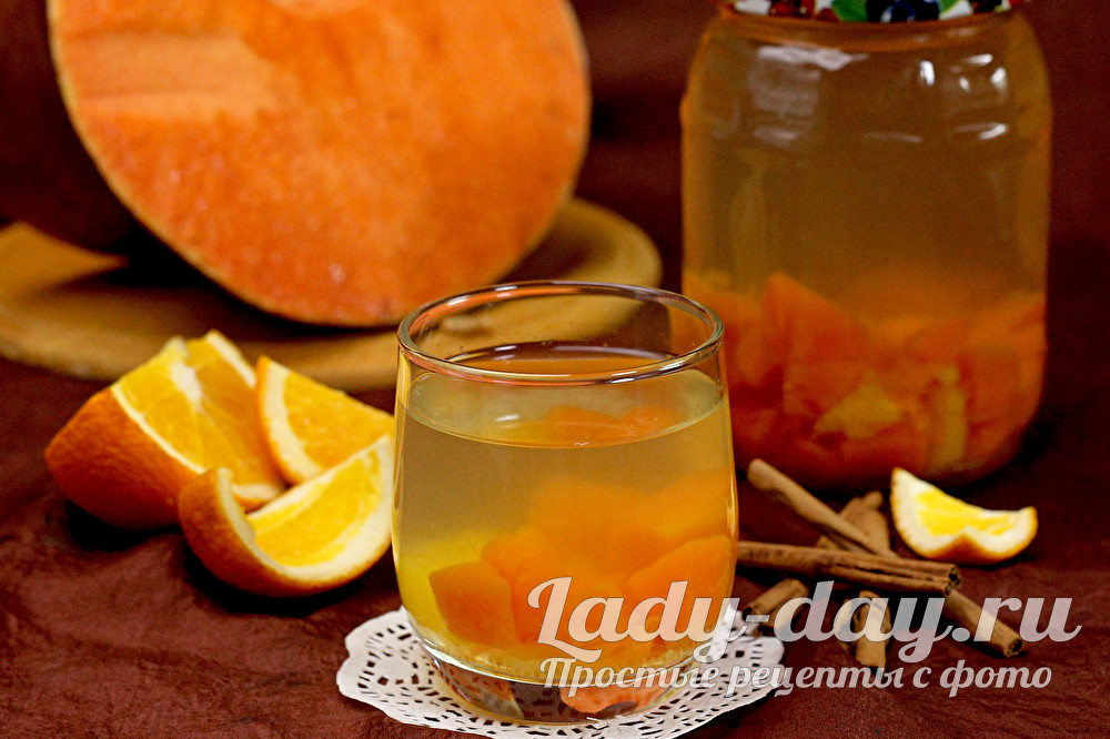 Компот из тыквы с апельсином