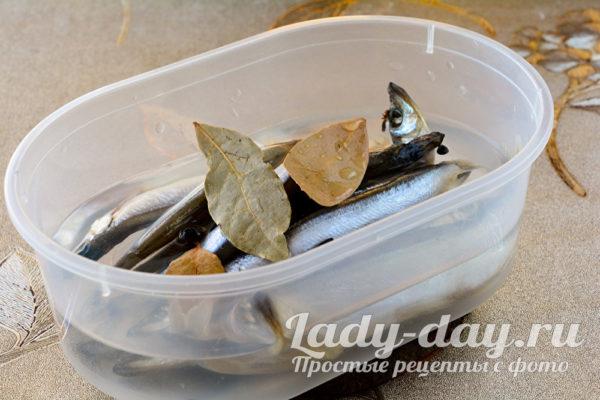 Залить рыбу рассолом