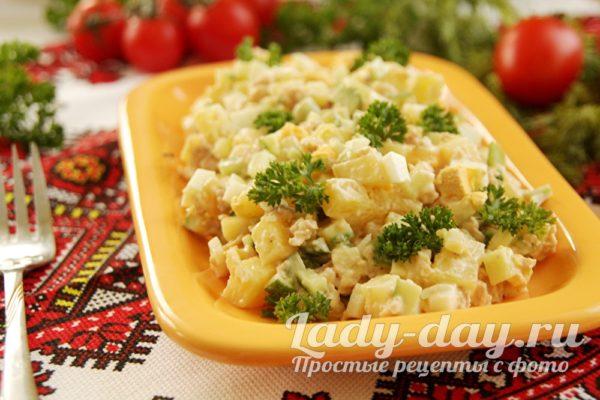 салат с треской