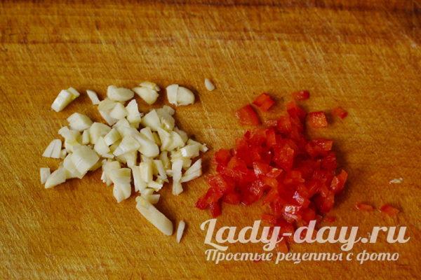 Измельчить острый перец
