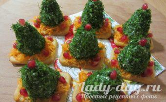 Закуски в виде елки на Новый год